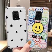 De silicona, Funda para Xiaomi Mi 11 Lite Funda Xiaomi Redmi Note 9 8 Pro 7 8T 7S 8A 7A 6A 10X Poco X2 A3 A2 sonrisa cara cubierta