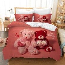 Cute Bear Cartoon Bedding Set Duvet Covers Pillowcases TEDDY Comforter Sets Bedclothes Bed Linen