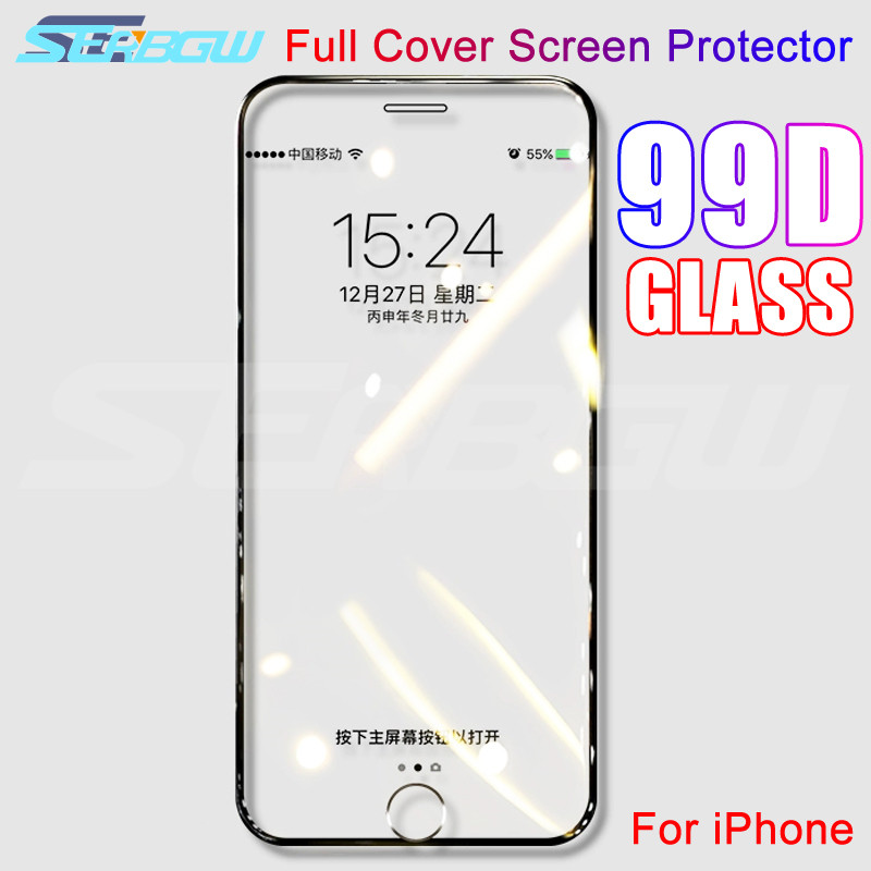99D Curved Edge Protective Glass On The For IPhone 7 8 6 6S Plus Tempered Screen Protector For IPhone 11 Pro X XS Max XR Glass