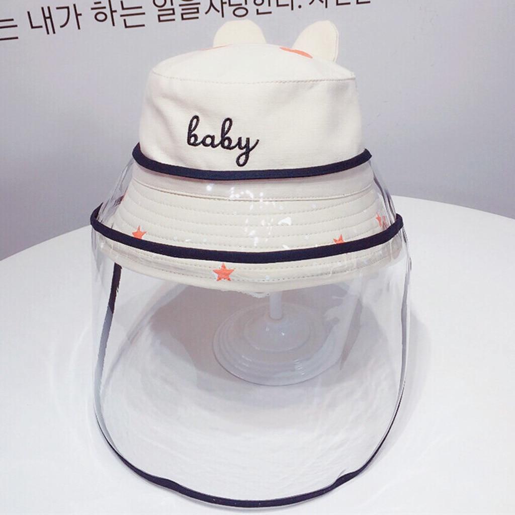 Baby Multi-function Protective Cap Anti-Saliva Protective Hat Eye Protection Windproof Hat Anti-saliva Children's Face Cover Cap 6