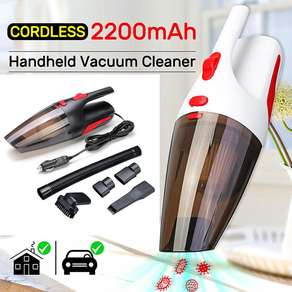 Newest Portable Handheld Car Vacuum Cleaner Cordless/Car Plug 120W 12V 5000PA Super Suction Wet/Dry Vaccum Cleaner for Car Home
