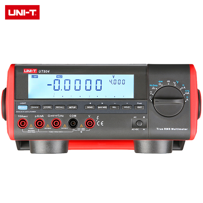 <font><b>UNI</b></font>-<font><b>T</b></font> <font><b>UT801</b></font>/UT802/803/804/805 Manual Range Benchtop Digital Multimeter; Resistance/Frequency/Temperature Test, LCD Backlight image