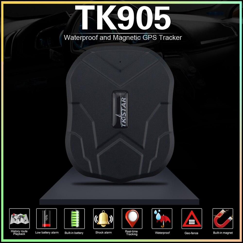 Transporte rápido! Carro gps tracker tk905 ímã veículo rastreador gps 5000 mah bateria à espera de 90 dias de vida livre rastreamento/app