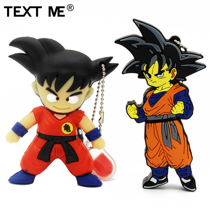 TEXT ME  Cartoon Dragon Ball Goku Model Usb Flash Drive Usb 2.0 4GB 8GB 16GB 32GB 64GB Pen Drive
