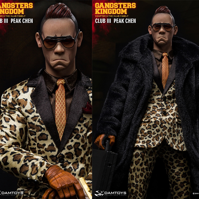 DAMTOYS GK018 1/6 <font><b>Gangster</b></font> <font><b>Kingdom</b></font> Grass Flower 3 Peak Chen Chen Shanfeng Dashan Gangbang boss movable doll toy in stock image