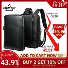 BOPAI 2 في 1 حقائب الظهر للرجال انفصال 15.6 بوصة محمول الظهر الذكور دفتر مقاوم للماء سليم الظهر حزمة حقيبة مدرسية