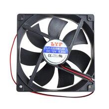 12 ซม.คอมพิวเตอร์ความเร็วสูง DC 12V 2Pin PC ระบบไฮดรอลิคพัดลมระบายความร้อน 12025