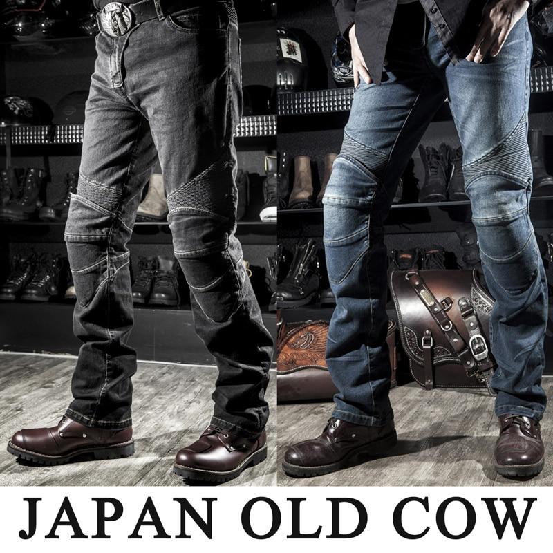 2019 Old Cow Motorcycle Jeans Leisure Mens Pants Of Locomotive Riding Motorcycle Pants Biker Pants Denim Motorcycle Trousers