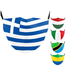 Flag-Masks Greece Hungary FILTER Washable Kids Outdoor Print with Adult Italy Tanzania