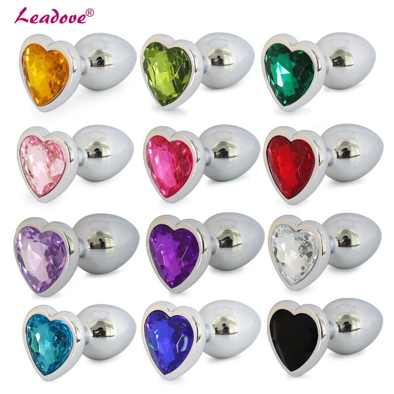 Smooth Touch Mini Size Heart Shaped Stainless Steel Intimate Metal Anal Plug Crystal Jewelry Butt Plug Anal Sex Toys For Couples