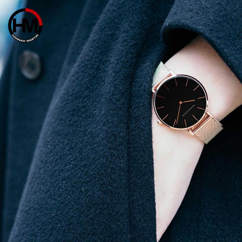 Женские часы, 1 комплект, браслет, японский кварцевый механизм, простые водонепроницаемые, розовое золото, нержавеющая сталь, сетка, женские часы, relogio feminino