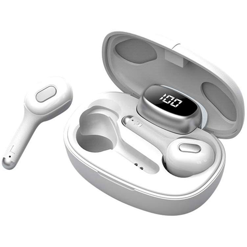 Bleutooth 5.0 <font><b>TWS</b></font> Earbuds <font><b>6D</b></font> Stereo Sound Noise Reduction Sports Headphones with Charging Box image