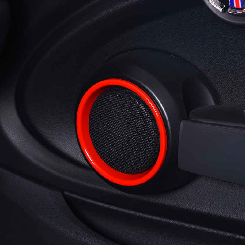 2 Pcs Car Speaker Protection Cover Sticker Interior Trim Decoration For MINI Cooper S F55 F56 F57 Car Styling Accessories