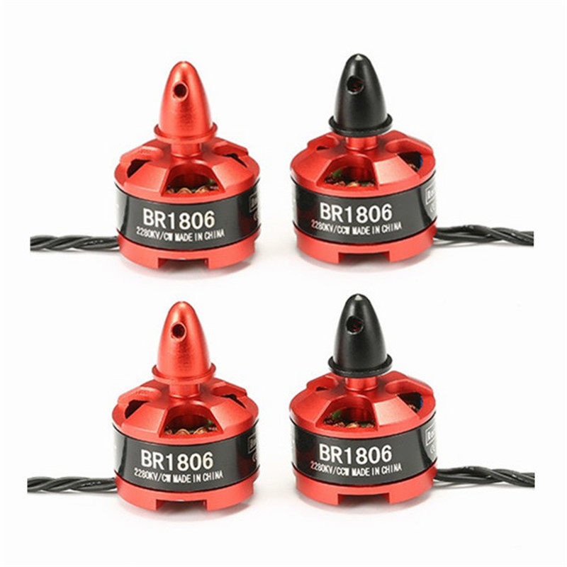 Newest High Quality 4PCS Racerstar Racing Edition 1806 BR1806 2280KV 1-3S Brushless Motor CW/CCW For QAV250 ZMR250 260