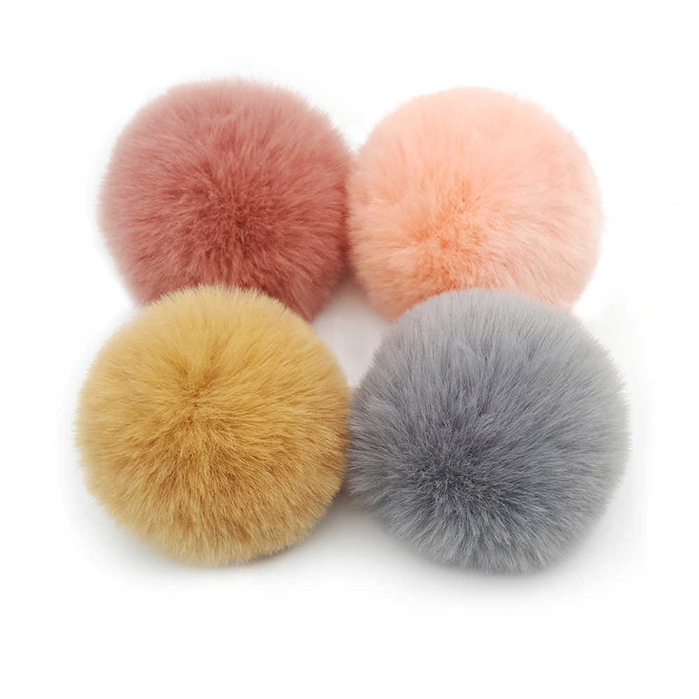 Lavida F36 2pcs 8cm/Faux Rabbit Fur Ball/DIY Caps Hats Necklace Shoes Pendant Keychain Materials/Hand Made/Jewelry Accessories
