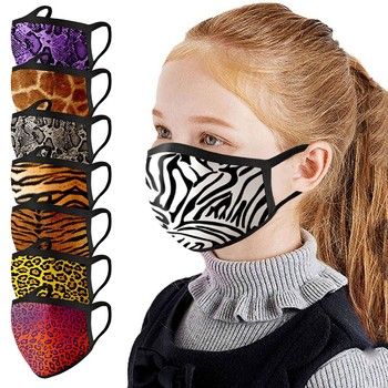 Mask Children Kids Unisex Mouth Caps Breathable Cloth Face Mask Washable Face Mask Reuseable Face Shield masque image