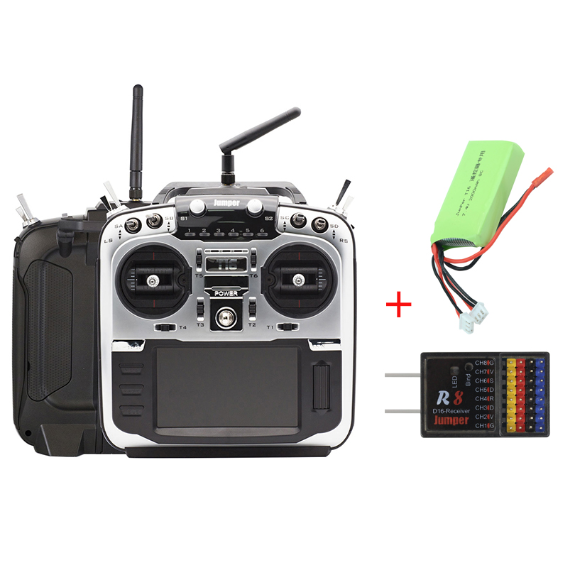 Jumper T16 Pro V2 Hall Gimbal Open Source Built-in Module Multi-protocol Radio Transmitter 2.4G 16CH Wi/ 2S 7.4V 2000MAH Battery