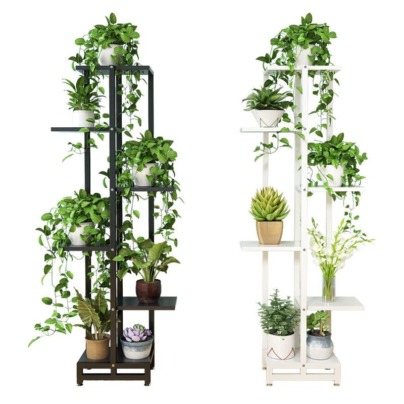 Flower Stand Living Room Art Multilayer Indoor Multi-function Hanging Basket Metal Stand For Plants Estante Jardin Plant Rack
