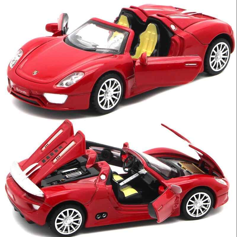 Alloy car 1:32 The world's top luxury car model kids toys pull back sound light Vehicles Model Christmas birthday gifts