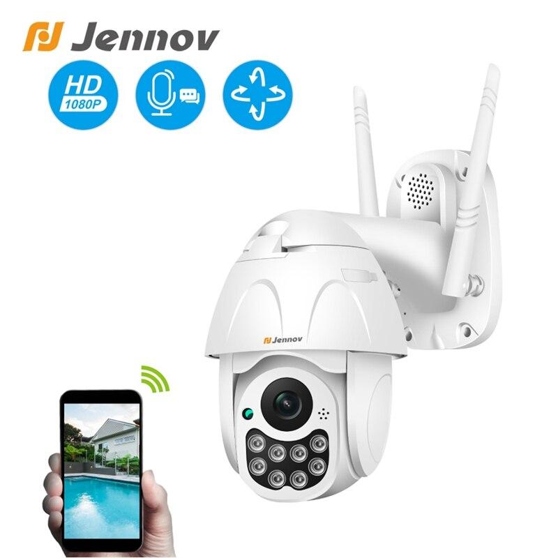 Jennov 1080 P PTZ IP Câmera Dome Ao Ar Livre Sem Fio Wi-fi Câmera de Segurança 2MP Two-way Áudio Pan Tilt CCTV rede de Vigilância ONVIF
