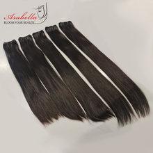 30 pulgadas Super doble cabello dibujado mechones hueso extensiones de cabello recto de la Virgen Natural 100% mechones de cabello humano postizo Arabella