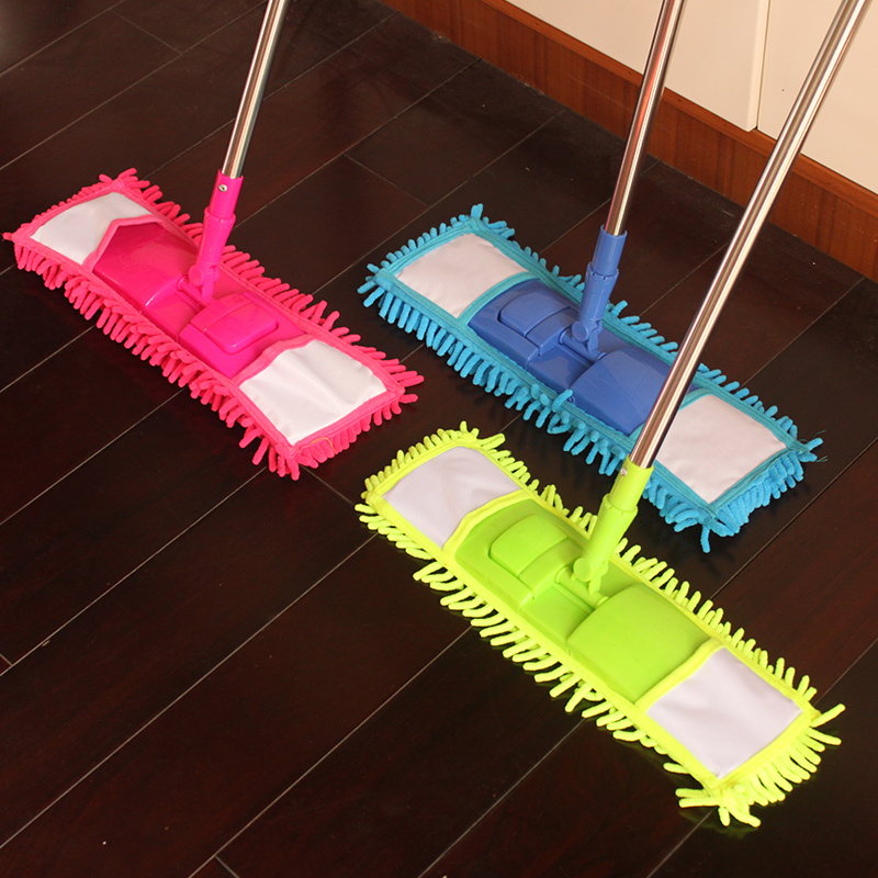 WHISM Mop Head for Floor Flat Fiber Spray Mops Cleaning Pads Chenille Flat Mop Head Replacement Refill Head to Floor Mops