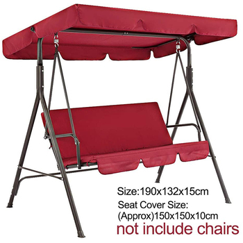 Terrace Swing 2 Pieces / Set Universal Garden Chair Dustproof 3-Seater Outdoor Cover Waterproof Top Covers (Red) - discount item  30% OFF Outdoor Furniture