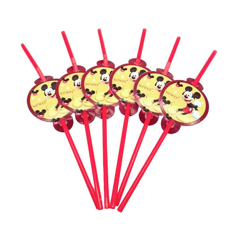 6 أطفال ميكي ماوس لوازم الطاولة/المائدة قابل للتصرف حفلة عيد ميلاد سعيد لوازم مهرجان الديكور بنين الطفل الحدث حفلة لصالح