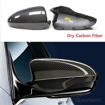 Real DRY Crabon Fiber Mirror Cover Exchange original 1 pair for BMW F10 M5 F06 F12 F13 M6 2012-2016 1