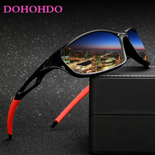 DOHOHDO Classic Alloy Driver Men Sunglasses Polarized Night Vision Lens Larger F