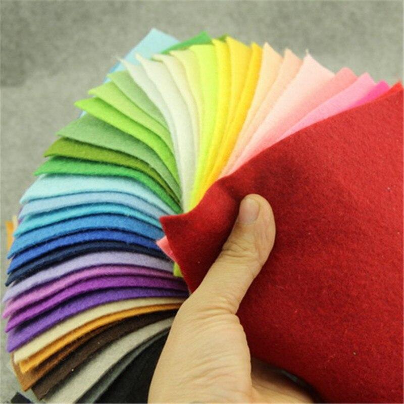 Пушистый мягкий нетканый материал, шерстяной войлок, ручная работа, материал, толщина 1,4 мм, 40 цветов/партия