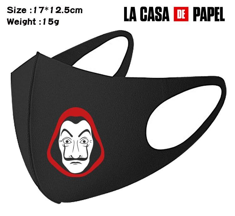 La Casa De Papel Season Money Heist Mouth Mask Breathable Face Mask Reusable Anti Pollution Face Shield Wind Proof Mouth Cover