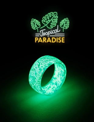 Lateefah Fashion Resin ring Punk Luminous Ring Glowing In The Dark Wedding Band Fluorescent Rings For Women Jewelry Men Gift Shop
