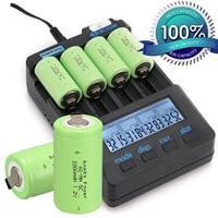 2/4/8 шт. anmas Power Sub C SC 1,2 V Перезаряжаемые батареи 3300 мАч металл-гидридных или никель-металл-гидридного 1,2 v Батарея зеленый