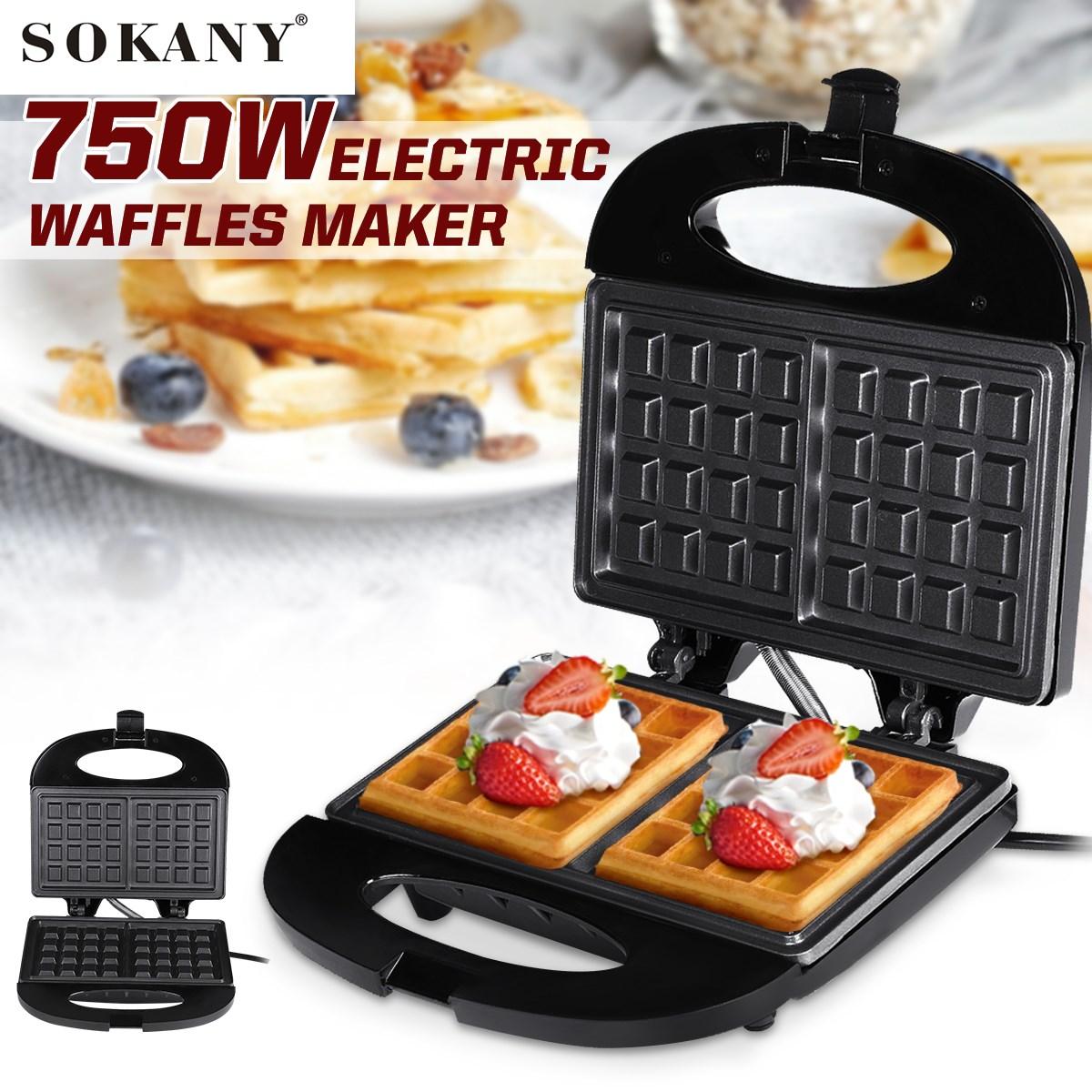 SOKANY 22x21x6 см вафельница для блинов мини вафельная машина электрическая машина для торта для блинов печенья с антипригарным покрытием