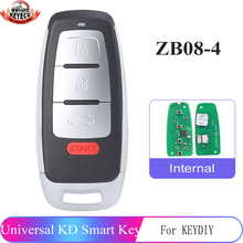 ZB08 4 KEYDIY Universal 3+1 Buttons Smart Key for KD X2 Car Key Remote Replacement Fit for More than 2000 Models