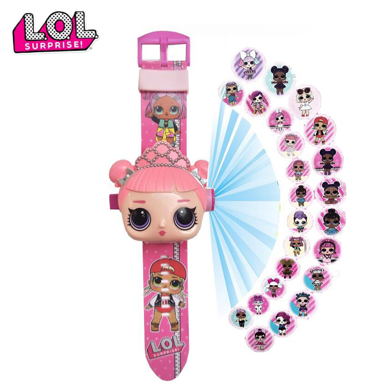LOL Dolls Surprise Toys Set Children 3D Projection Cartoon Children Watches Anime Figure Educational Small Boys Girls Clock Toys