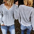 Fashion V-neck solid...