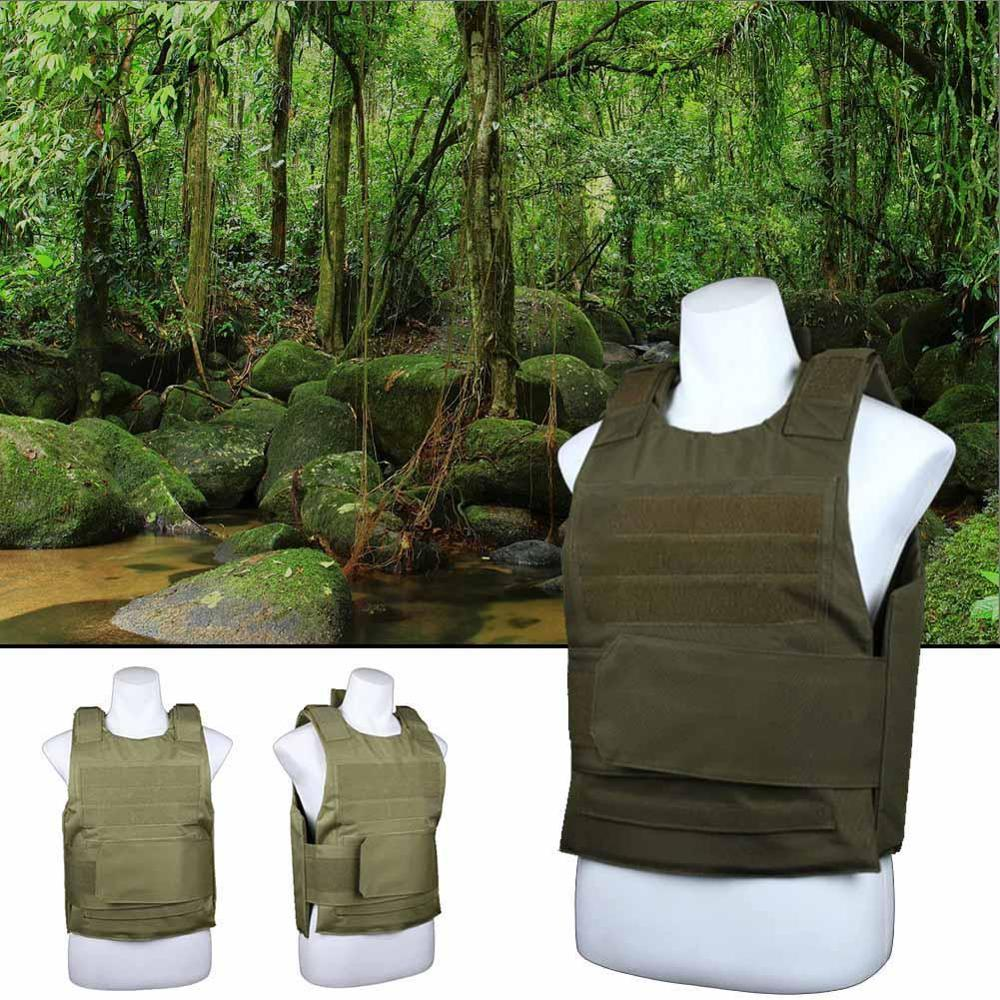 Plate Carrier Tactical Vest Jungle Outdoor Survival Adventure Hunting Camouflage Military Clothes Training