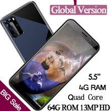 Оригинальные разблокированные смартфоны 8A с функцией распознавания лица, 5,5 дюйма, 4 Гб ОЗУ, 64 Гб ПЗУ, 13 МП, HD, Четырехъядерные мобильные телеф...