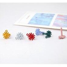 2pcs diy handmade jewelry accessories alloy spray paint color chrysanthemum earrings sweet flower materials
