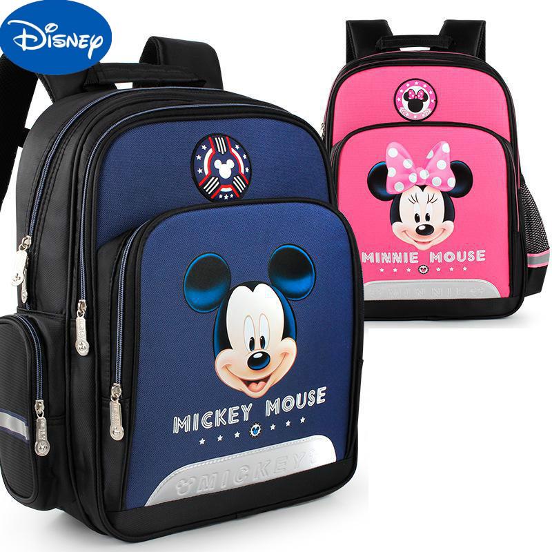 Disney Schoolbag Mickey Minnie Pupil Backpack Cute Cartoon Backpack For Grade 1-3 Anti-skid And Wear-resistant SD10056
