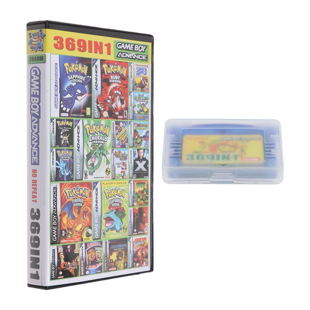 369 In 1 Retro Games Card Mario Rockman 32-bit Game Cartridge For GBA SP NDS Multi-Games Collection Card Vintage Games