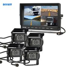 Car-Monitor Reversing-Camera Night-Vision Waterproof 4-Split DIYKIT for Truck Bus 10-IR