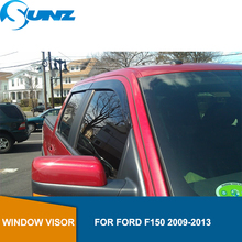Side window deflectors For Ford F150  2009 2010 2011 2012 2013 Window Visor Vent Shade Sun Rain Deflector Guard Car Styling SUNZ