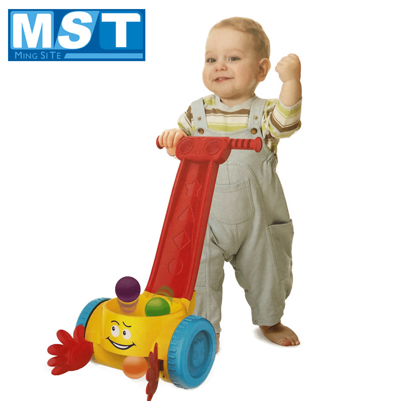 Early Learning Educational Baby Toys First Step Toddler Trolley Learn To Walk Musical Baby Walker Cart Stroller For Infant Kids