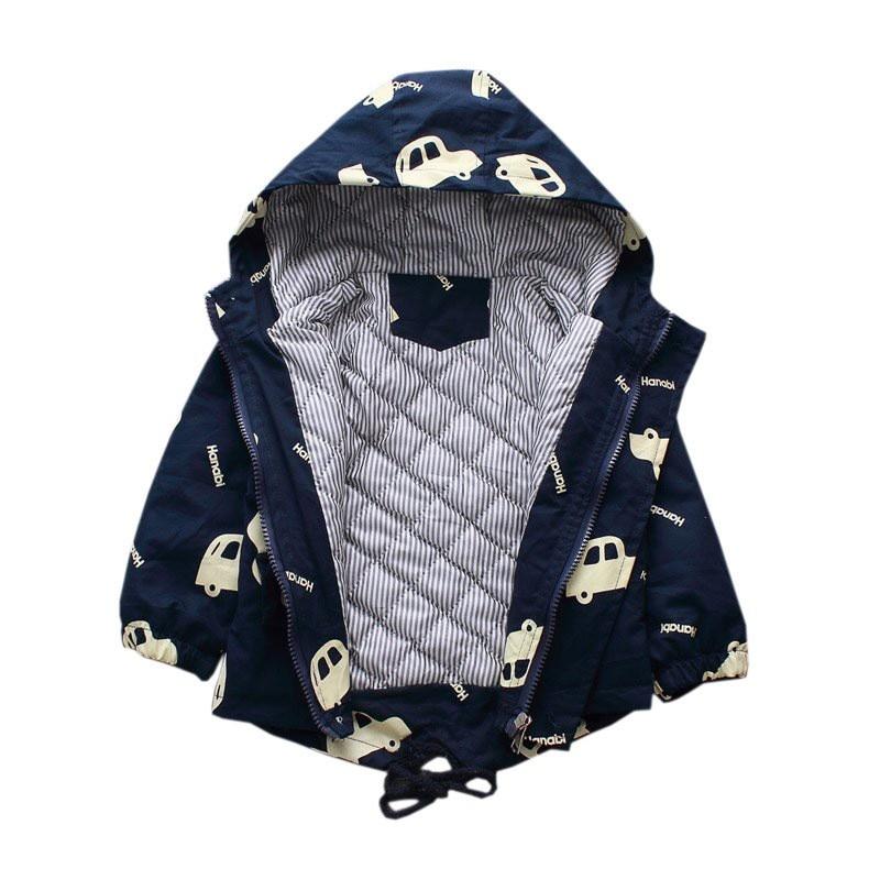 CROAL CHERIE Warm Winter  Jacket Coat Baby Boys Parka Cute Car Kids Jacket Hood Winter Children Jacket Fall Toddler Outerwear  (2)