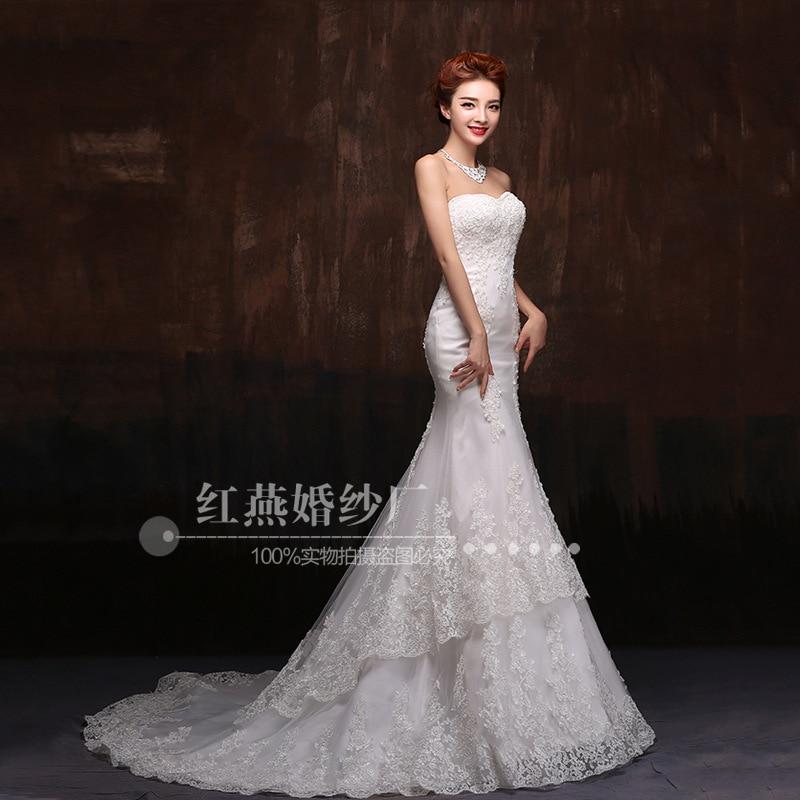 Hot Sale 2019 New Lace Mermaid Wedding Dresses Appliques Sweetheart Bride Dresses Elegant Wedding Gowns Casamento