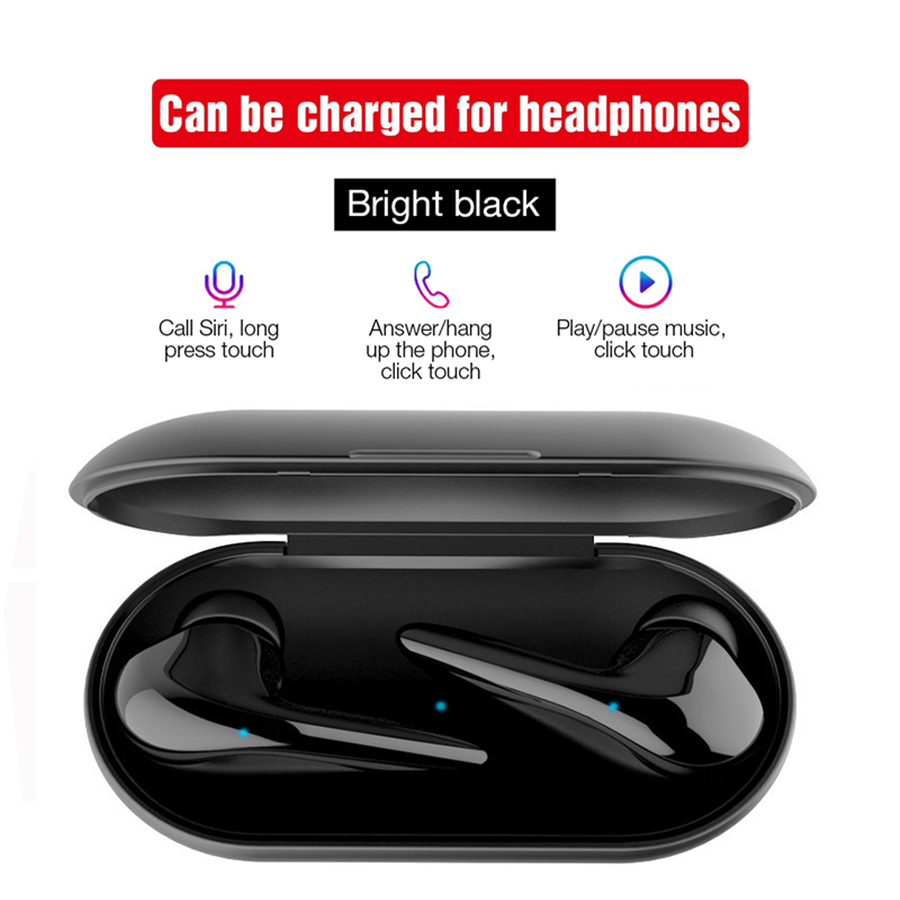 TWS Wireless Earphones Bluetooth 5 0 Headset Touch Control Earbuds Binaural Call with Mic Sport Hifi Stereo Music Headphone in Phone Earphones Headphones from Consumer Electronics