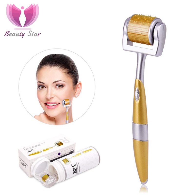 Professional Titanium ZGTS Derma Roller 192 Needles Face Skin CareHair Loss Treatment Anti Wrinkles Scar Microneedle Roller